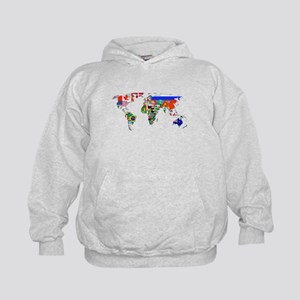 World flag map Hoodie